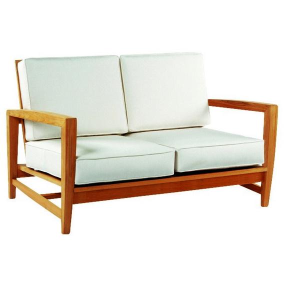 Outdoor/Indoor Amalfi Deep Seating Settee with Sunbrella Fabric Cushions