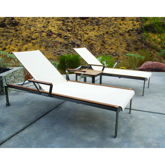 Kingsley Bate Traditional Tivoli Chaise Lounge With Wheels And Armrests