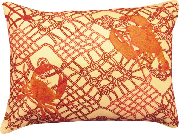 Crab & Lobster Pillow