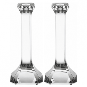 Regina Large Set Of 2 Crystal Candle Holders