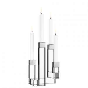 Chimney 4 Arm Crystal Candle Holder