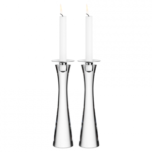 Houston Clear Crystal Pair Candle Holders