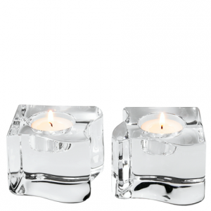 Puzzle Set Of 2 Crystal Votives