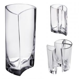 Klone Crystal Cylinder Vase That When Clustered In Multiples Of Four Form Perfect Cylinders And Squares