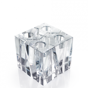 Klone Set Of 4 Crystal Square Candle Holders