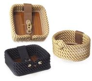 Rope Napkin Holder; Navy Color | 700521N