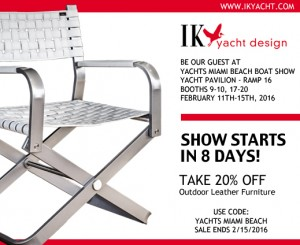 Yachts Miami Beach Outdoor Leather Furniture Sale