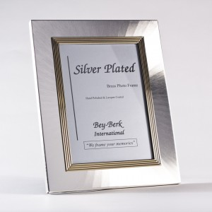 "Silver & Brass 4""X6"" Picture Frame With Easel Back"