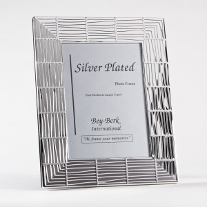 "Silver Plated 5""X7"" Picture Frame With Easel Back"