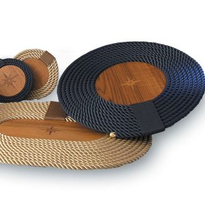 Round Rope and Teak Placemat