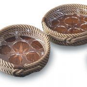 Round Rope and Teak Beverage Holder