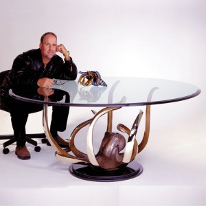 Dinner for Eight Bronze Table by Dale Evers at IK Yacht Design Inc.