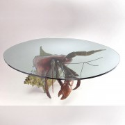 Bronze Hermit Crab Cocktail Table by Dale Evers at IK Yacht Design Showroom