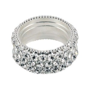 Clear Crystal Napkin Ring