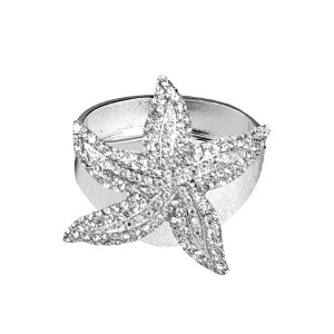 Silver Starfish Napkin Ring