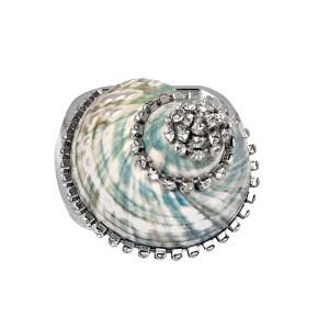 Jade Turbo with Crystals Napkin Ring