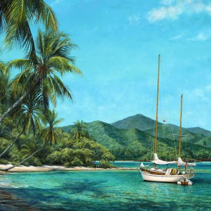 Horizon Canvas Giclee by Tripp Harrison at IK Yacht Design