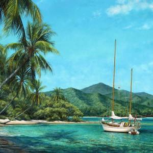Horizon Canvas Giclee by Tripp Harrison at IK Yacht Design