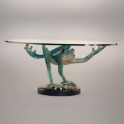 Balancing Act Bronze Sculpture Table by Dale Evers at IK Yacht Design Showroom