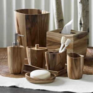 Acacia Wood Bath Accessories