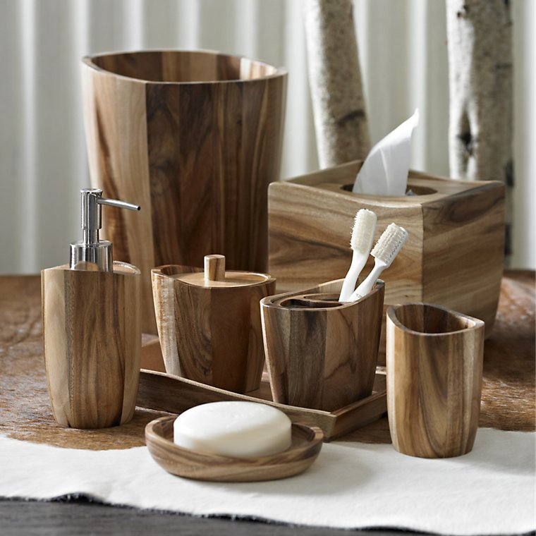 white wooden bathroom accessories | My Web Value