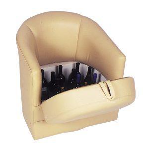 Custom Barrel Chair with Lift Seat Storage