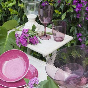 Rosette Melamine Dishes