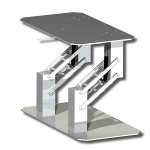 Double Quadratic Table Pedestal