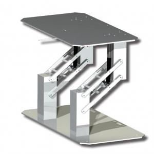 Double Quadratic Table Pedestal
