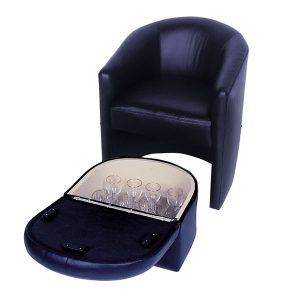 Stow Away Ottoman  / Barrel Chair